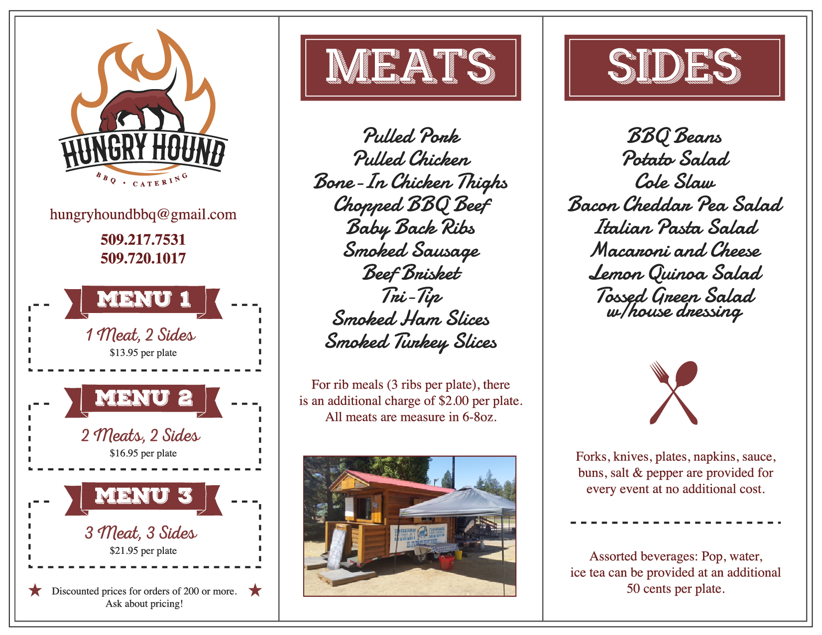 Hungry Hound BBQ Catering Menu